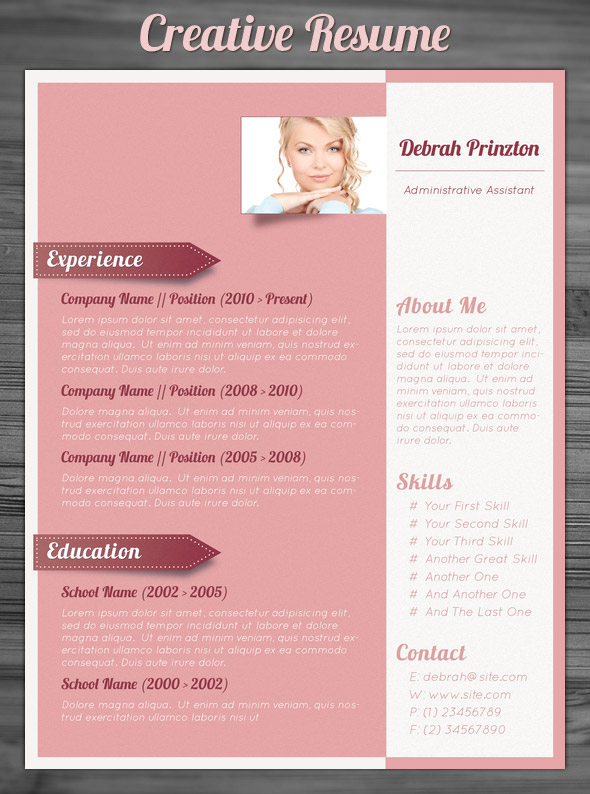 21 Stunning Creative Resume Templates - creative resume template free