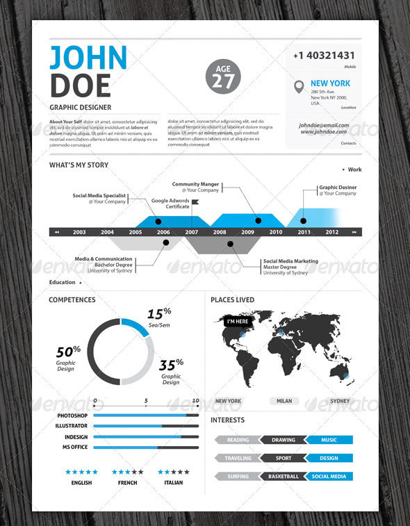 infographic resume templates - infographic resume templates