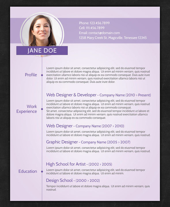 21 Stunning Creative Resume Templates - resume templates with photo
