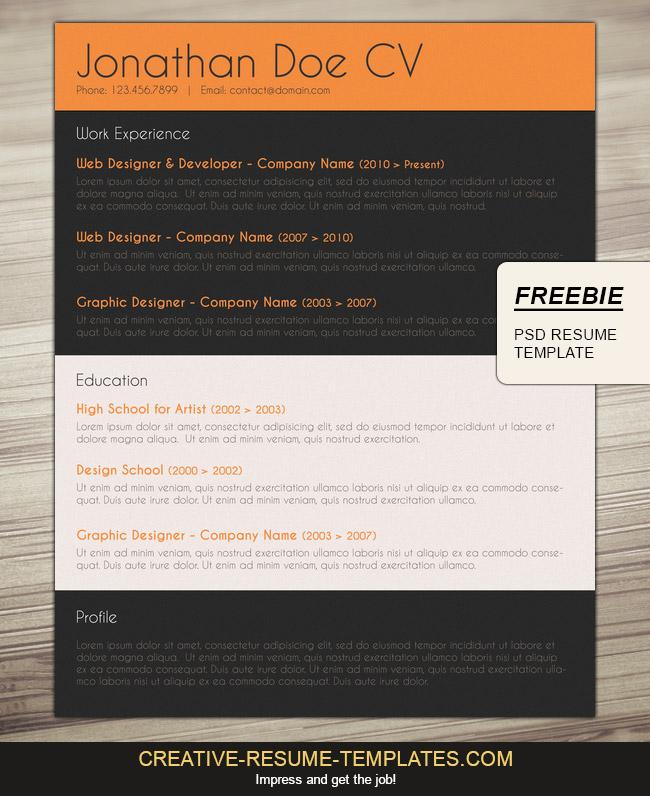 Free Professional CV Layout - cv layout