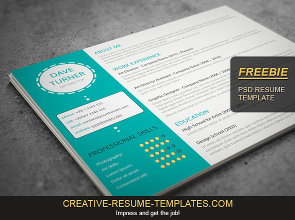 Free cover letter template, download it here creative-resume - free template for a resume