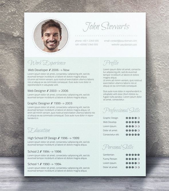 21 Stunning Creative Resume Templates - graphic design resume templates