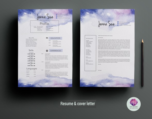 16 MS Word Resume Templates with THE Professional Look - creative resume template word
