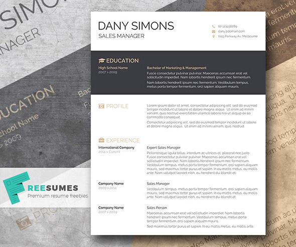 Free Beautiful Resume Templates to Download Instantly - Free Word Resume