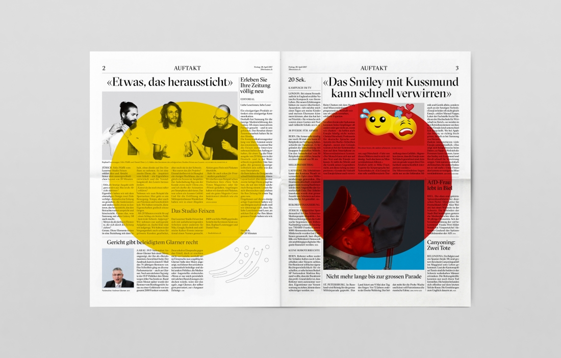 Radical newspaper redesign by Studio Feixen sets out to shock - studio brochure