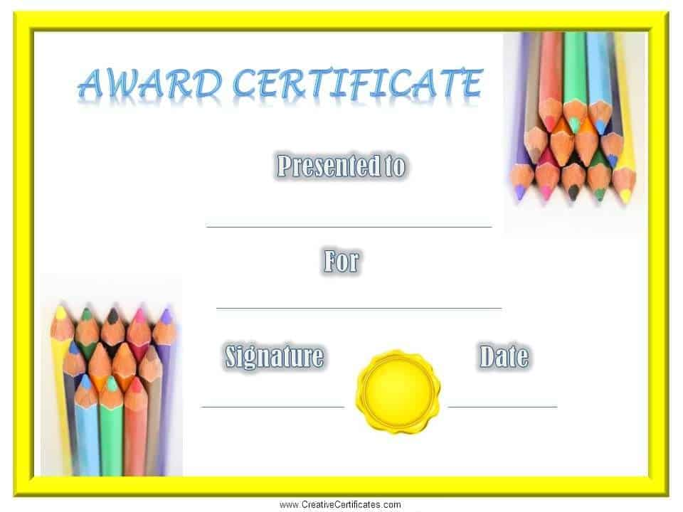 Free School Certificates  Awards