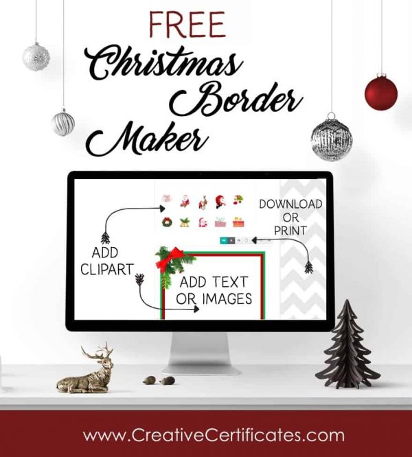 Free Christmas Border Templates - Customize Online then Download