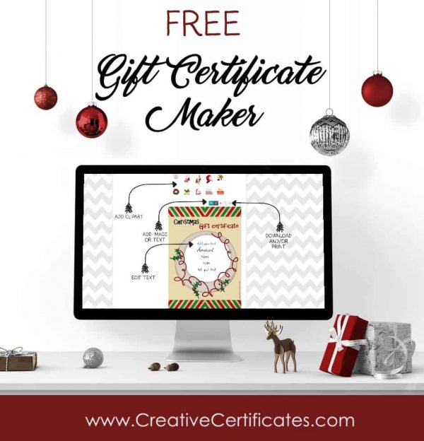 Free Christmas Gift Certificate Template Customize Online  Download