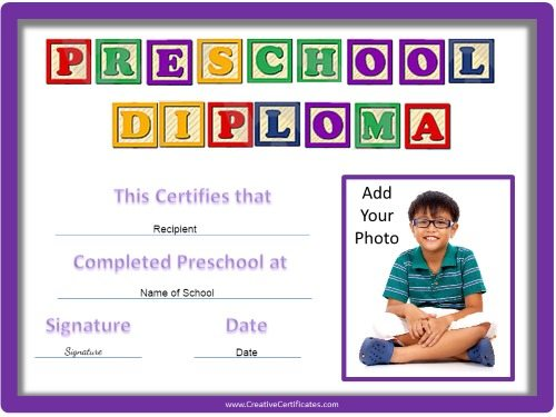 printable preschool graduation certificates