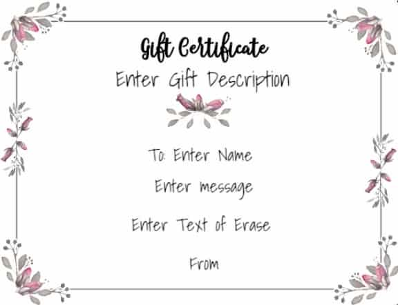Free Gift Certificate Template 50+ Designs Customize Online and