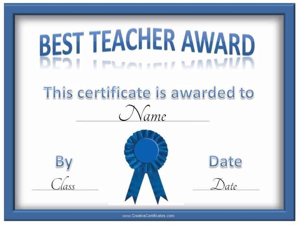 Free Teacher Awards - best of printable soccer certificate