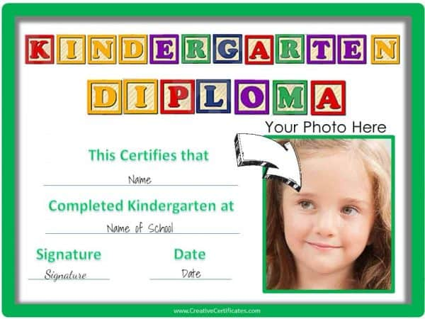 Kindergarten Graduation Certificates