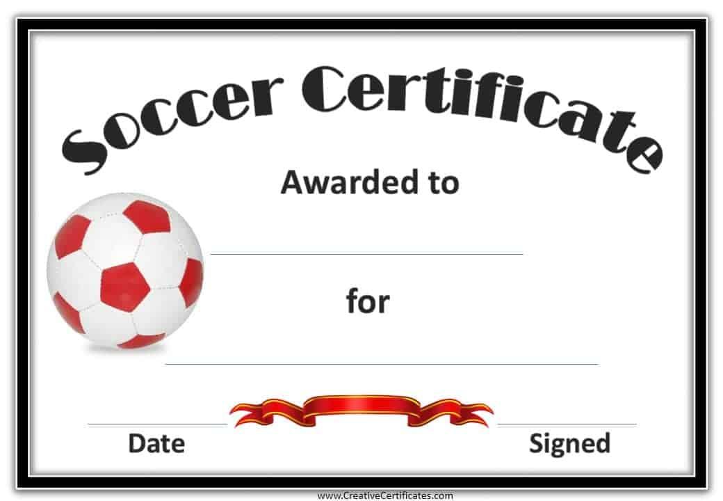 soccer certificates templates - Idealvistalist - best of printable soccer certificate
