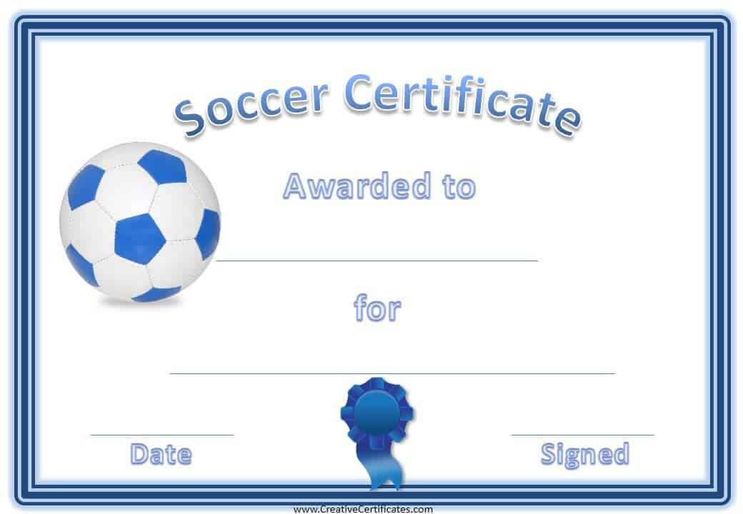 Free Editable Soccer Certificates - Customize Online - Instant Download - soccer certificate template