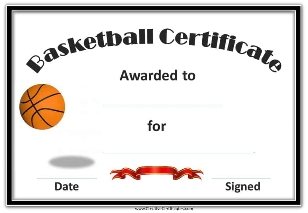 Free Editable Basketball Certificates Customize Online  Print at Home - 1st place certificate template