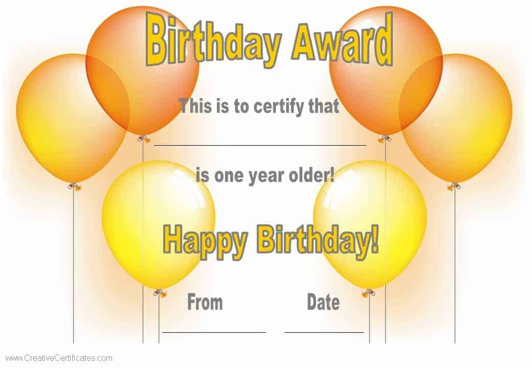 birthday-certificate-template-1jpg 1,040×720 pixels Sunshine - happy birthday certificate templates