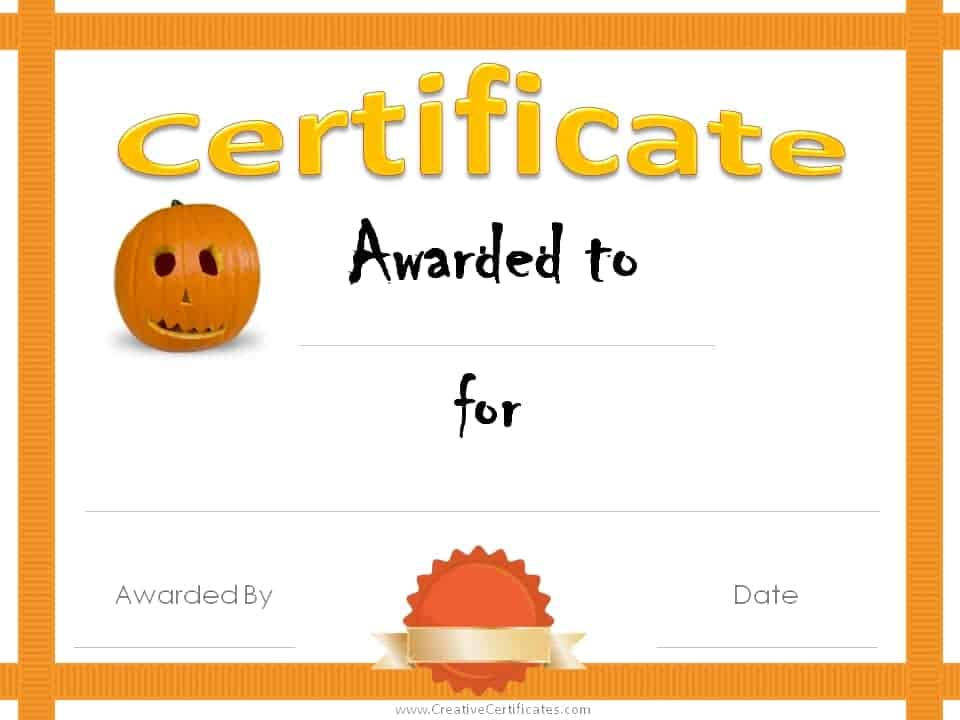 Free Halloween Costume Awards Customize online Instant Download - Free Award Templates