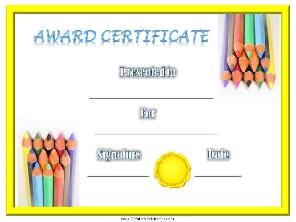 Free School Certificates  Awards