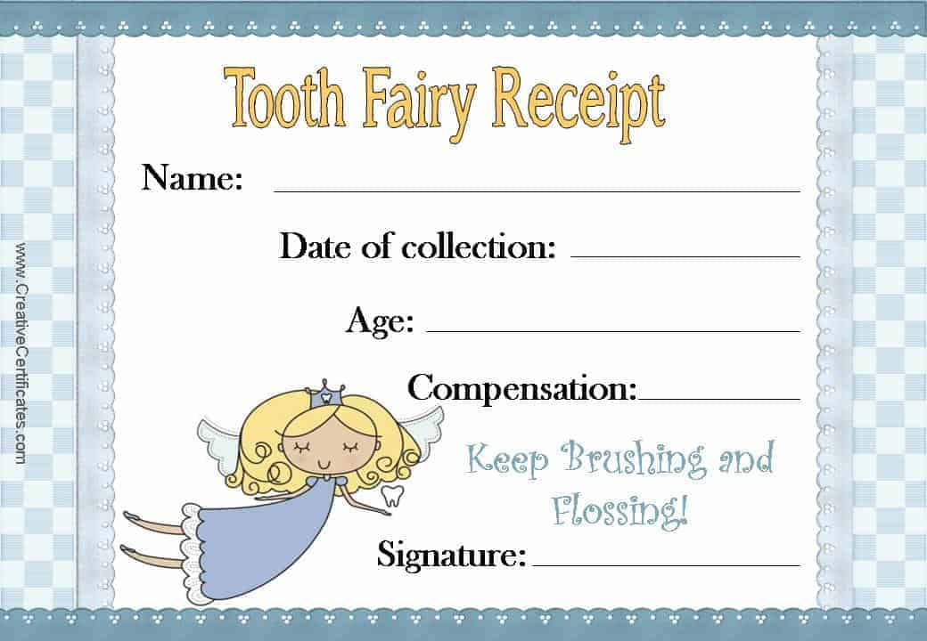 Free Tooth Fairy Certificate - free online printable certificates