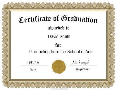 graduation certificate templates - certification templates