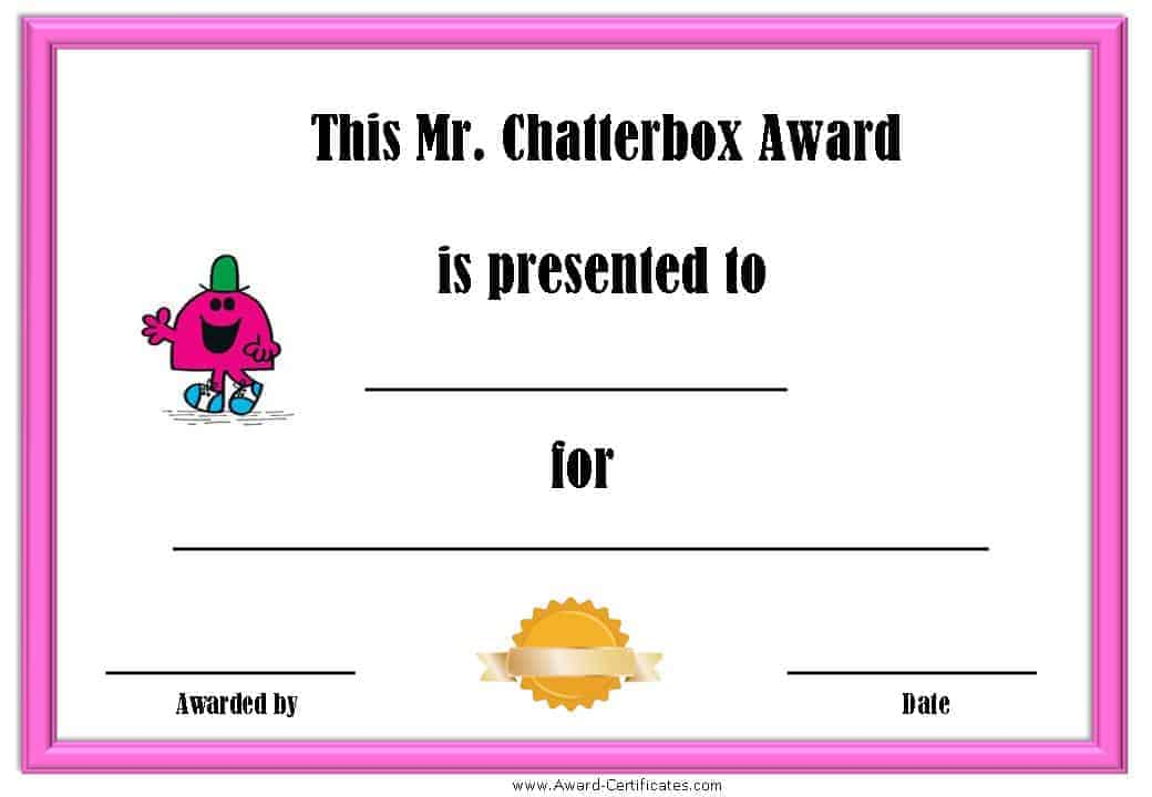 fun award templates free - Josemulinohouse - Silly Certificates Awards Templates