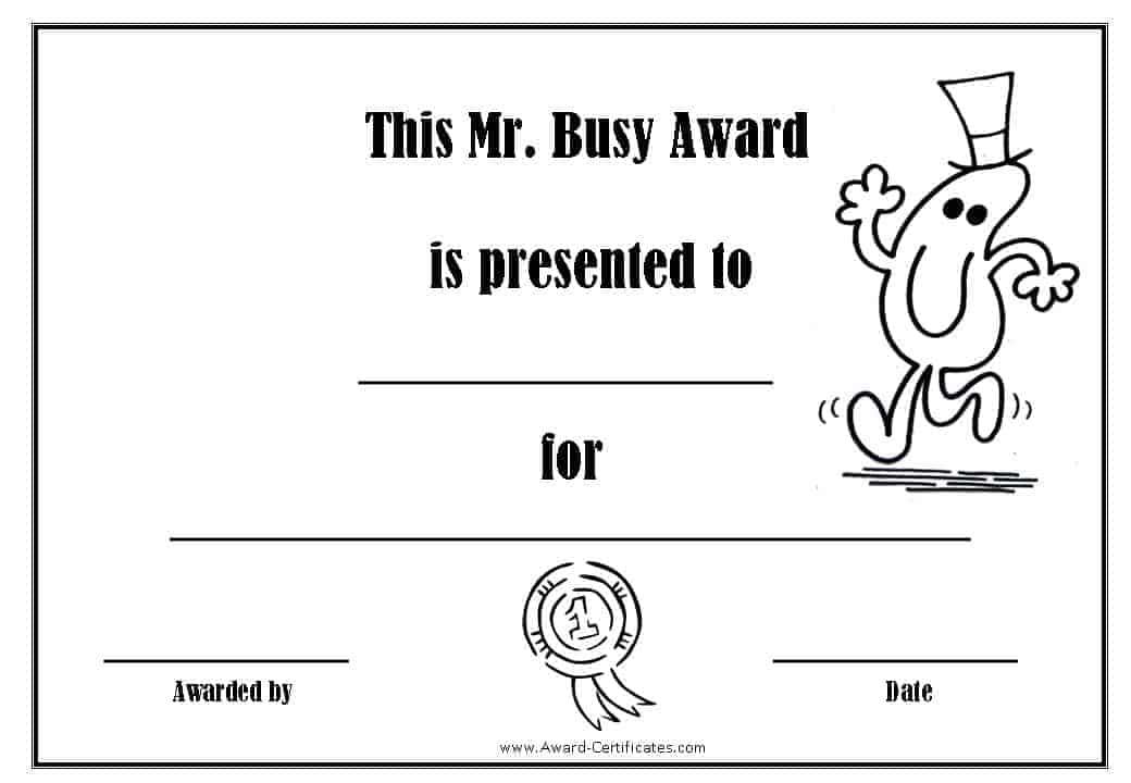 Free Printable Superlative Awards Customize Online - free award certificates