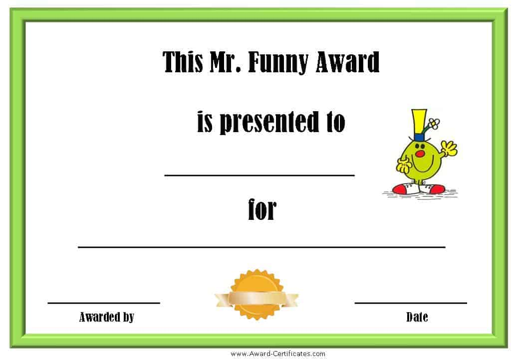 Joke Award Certificate Template | Finance Internships Summer 2014
