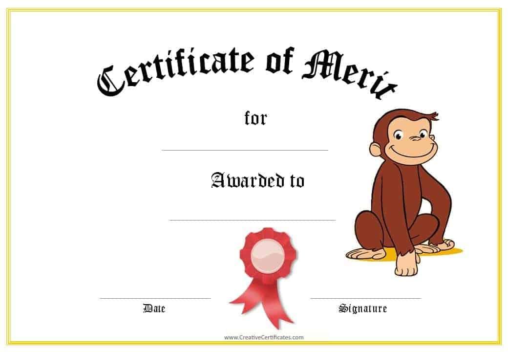 merit award certificate template - Intoanysearch