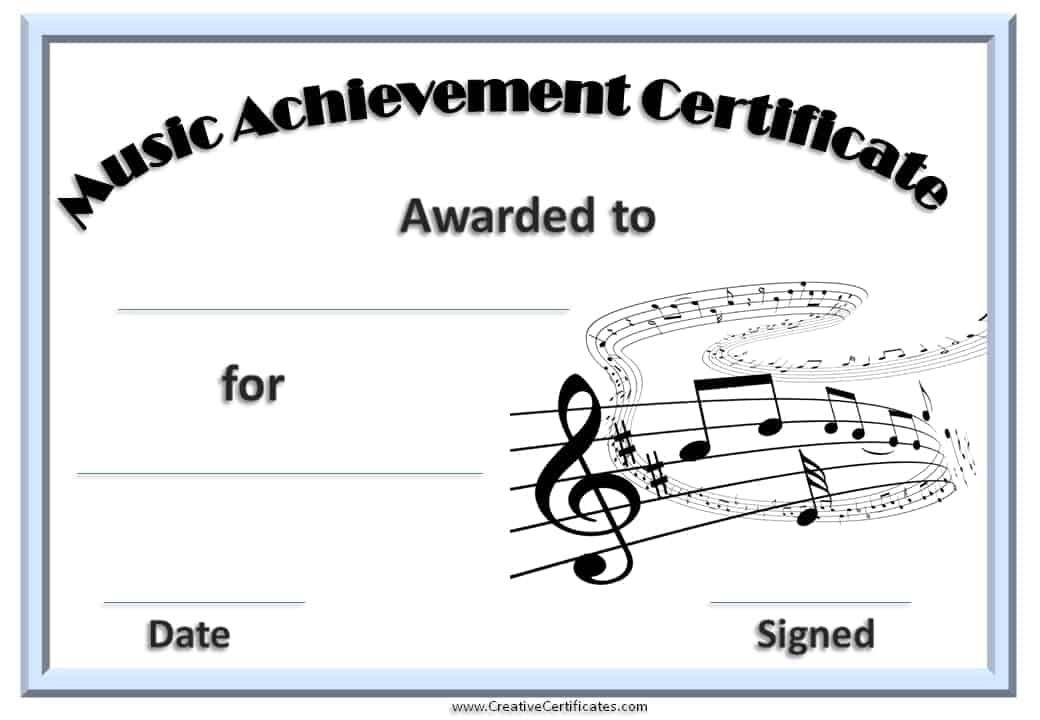 music award certificate template - award certificate templates