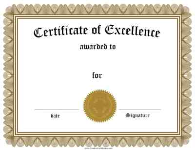 Free Customizable Certificate of Achievement