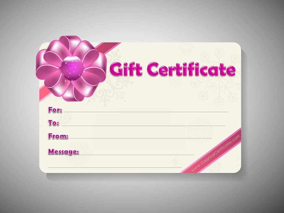 Free Gift Certificate Template Customize Online and Print at Home - gift card templates