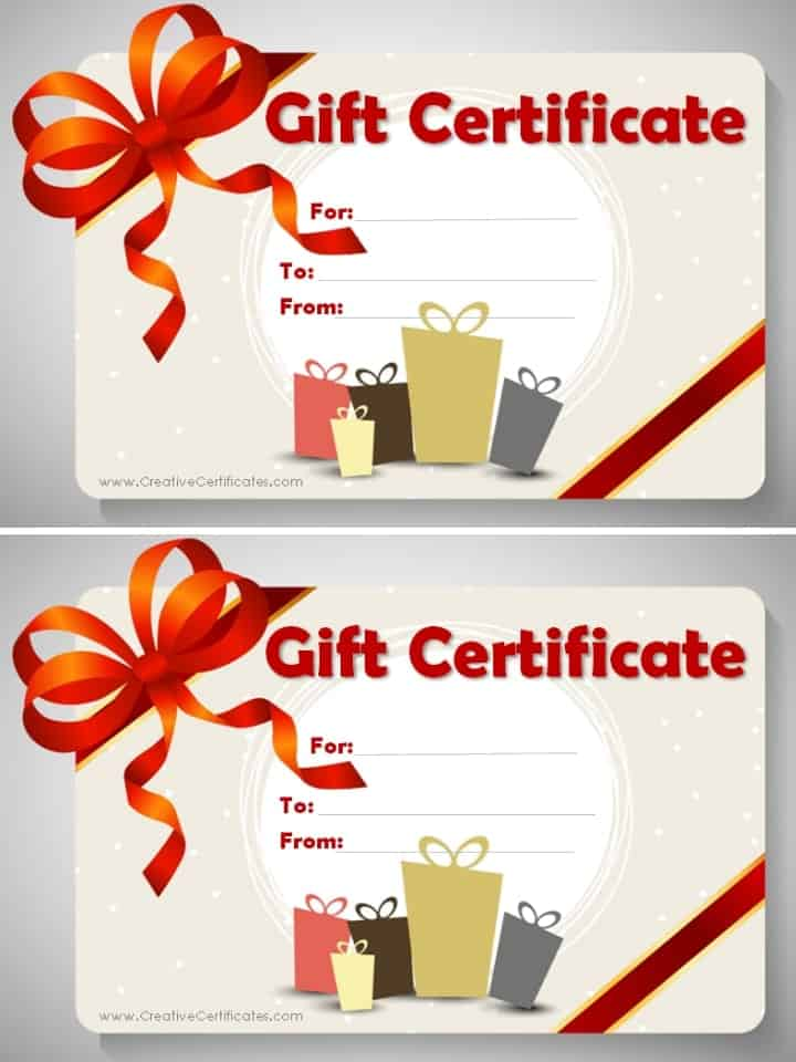 Free Gift Certificate Template Customize Online and Print at Home - birthday gift certificate
