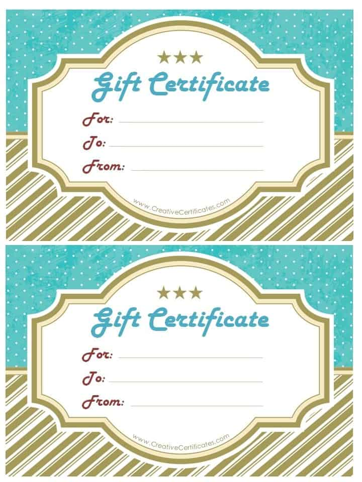 Free Gift Certificate Template Customize Online and Print at Home - gift certificate templete