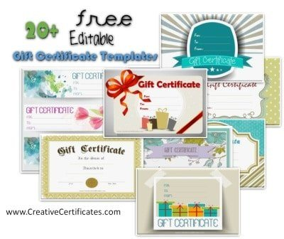 Free Gift Certificate Template Customize Online and Print at Home - personalized gift certificates template free