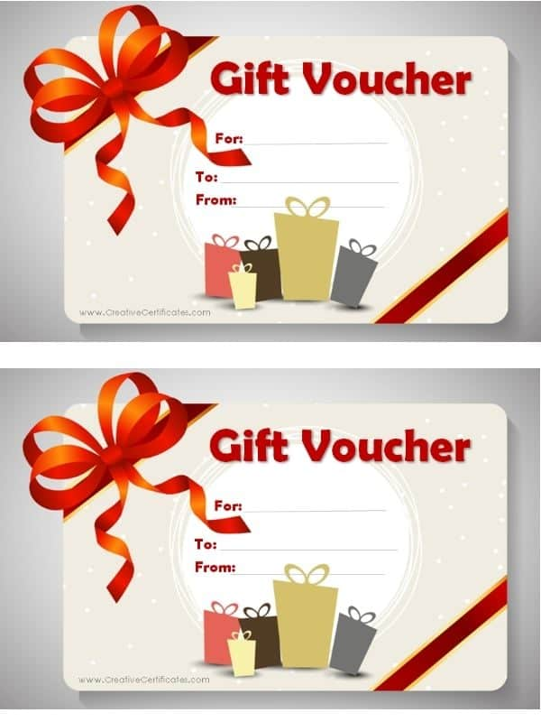 Gift Voucher Template - printable gift certificate template