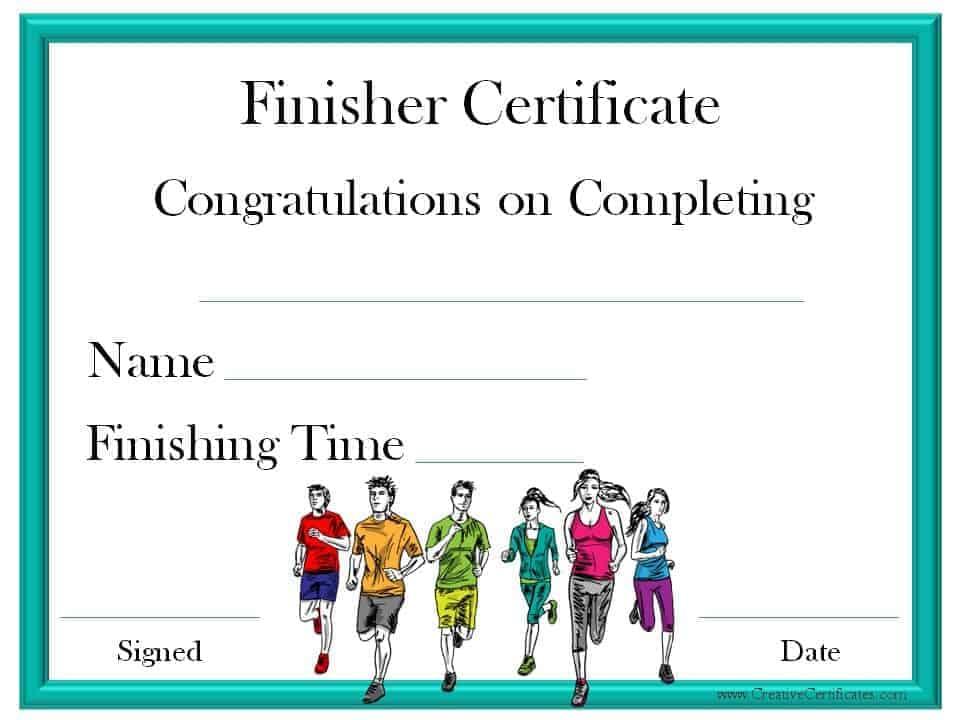 Running Certificate Templates Free \ Customizable - printable congratulations certificate