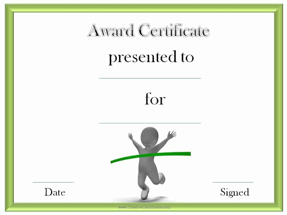 Track and Field Certificate Templates Free  Customizable - award templates