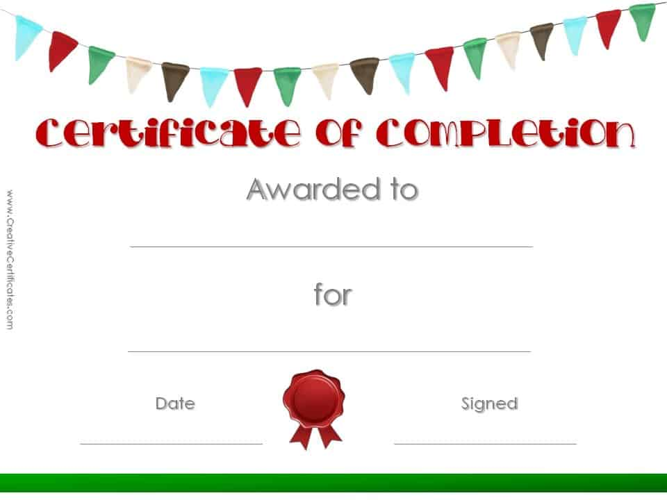 Certificates Of Completion Template Choice Image - certificate - certificate of completion template free