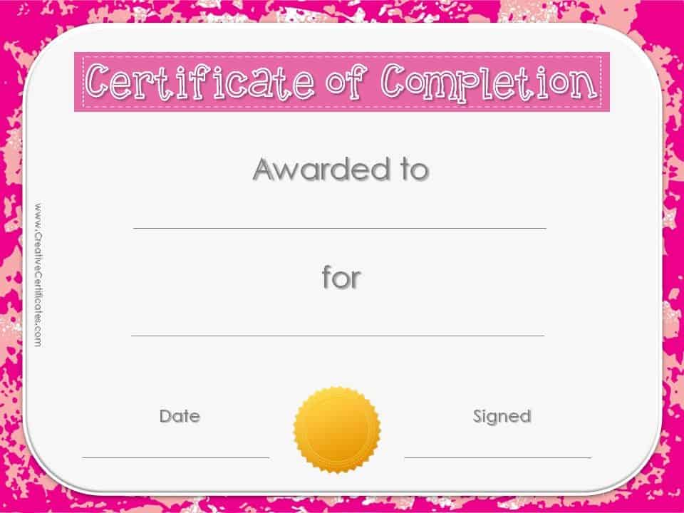 Free Online Printable Certificate Templates - mandegarinfo - free online printable certificates
