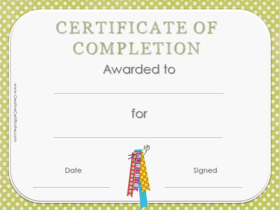 sle of certificate of completion - 28 images - certificate of - certificate of completion of training template