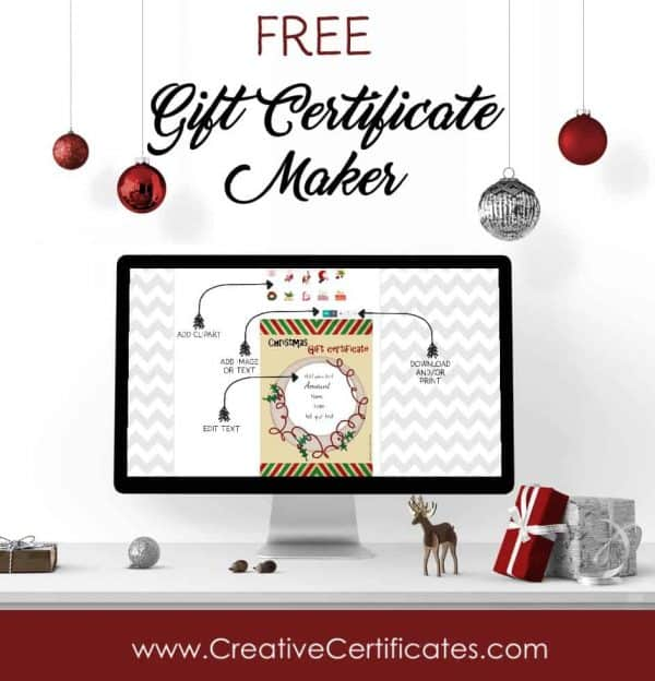 Free Christmas Gift Certificate Template Customize Online  Download - christmas gift card templates free