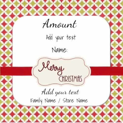 Christmas Voucher Template As The Name Suggests The Merry Christmas - Free Christmas Voucher Template