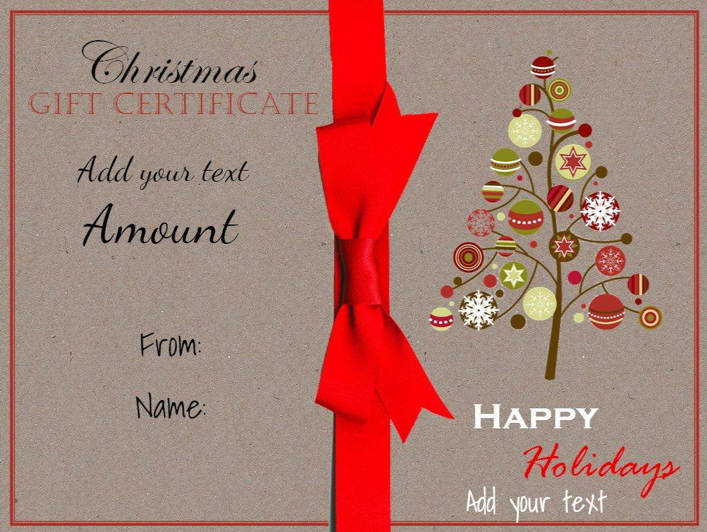 Christmas Certificate Template Ivoiregion