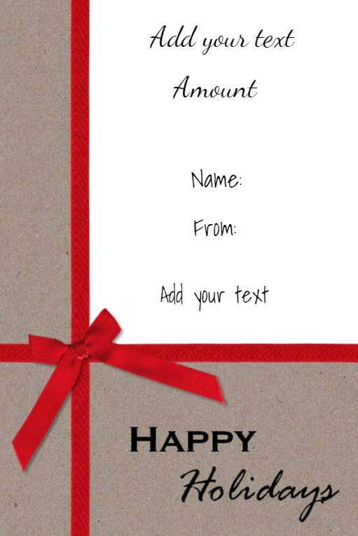 Free Christmas Gift Certificate Template Customize Online \ Download - gift certificate free templates