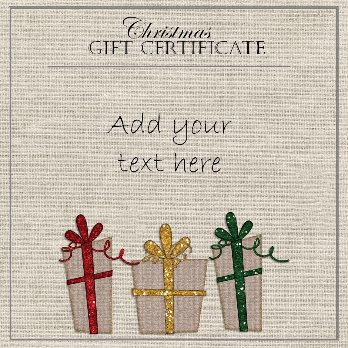 Christmas Gift Certificates Free – Christmas Gift Certificates Free