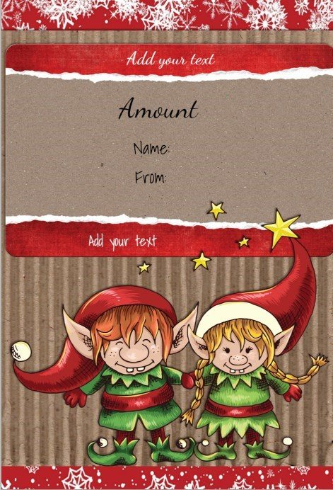 Free Christmas Gift Certificate Template Customize Online \ Download - free printable christmas gift certificate