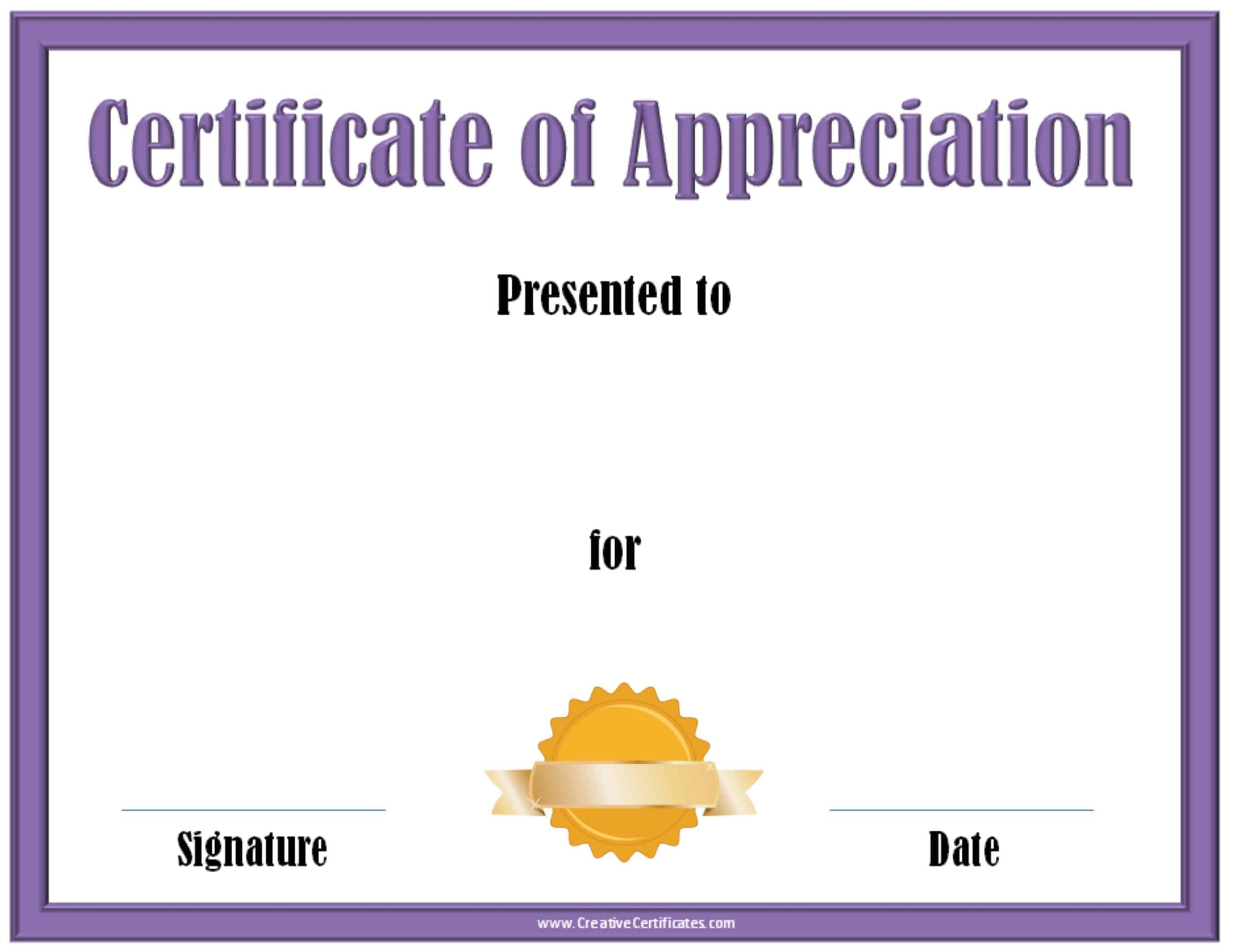 Certificate of donation template free word certificate templates blank donation certificate template gallery certificate design certificate of appreciation template 41 blank donation certificate template yelopaper Choice Image