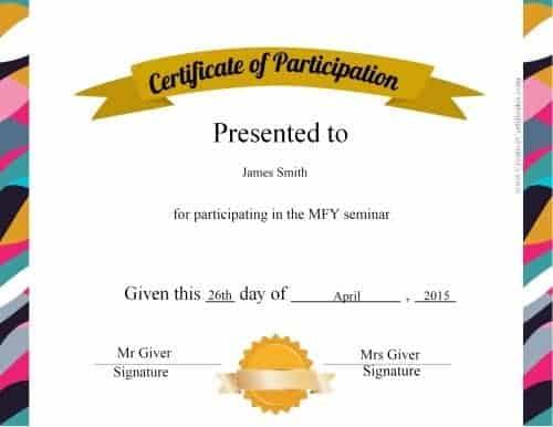 certificate of participation design - Ozilalmanoof - design of certificate of participation