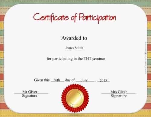 sample certificate of participation template trattorialeondoro - certificate of participation format