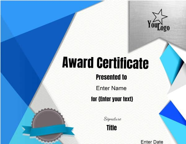 Free Online Certificate Maker - design of certificate of participation